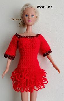 Czerwona sukieneczka dla Barbie- Maj 2020r