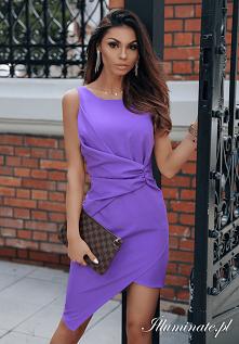 Fioletowa sukienka na wesele z kolekcji Illuminate.pl <3