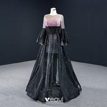 Luksusowe Czarne Taniec Sukienki Na Bal 2020 #SukienkiNaBal #SukienkiWizytowe #promdress