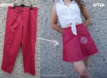 spodnie w spódniczkę teniso...