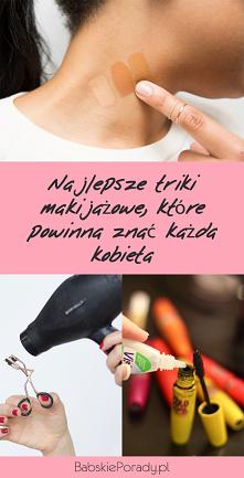 Najlepsze triki makijażowe,...