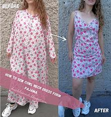 sukienka z piżamy diy