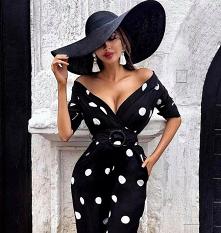 #sukienka#grochy