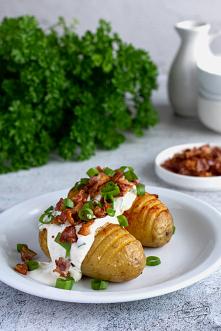 #Pieczone #ziemniaki z serk...