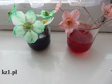 Barwienie białych kwiatów -...