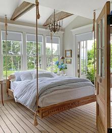 #sypialnia #podwieszane łóż...