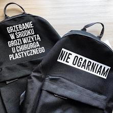 Plecaki z nadrukami do kupienia na swagshoponline.pl Ogromny wybór kolorów i napisów! ♥