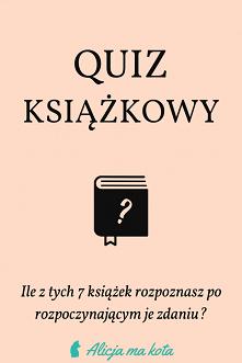 Książkowy quiz [KLIK] Czy r...