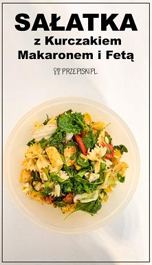 #Sałatka z Kurczakiem, Makaronem i Fetą#lunch