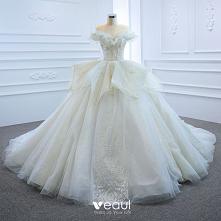 Luksusowe Białe ślubna Sukn...