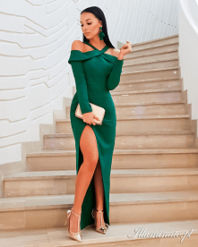 Długa elegancka sukienka z ...