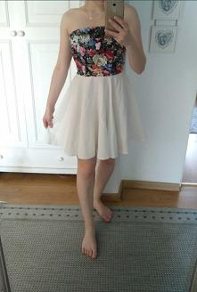 Sprzedam sukienkę w stanie idealnym Rozmiar 36 Cena 50zl + kw #sukienka #motywkwiatowy
