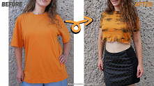 crop top z t-shirt u diy