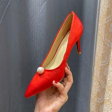 Eleganckie Czerwone Satyna ...