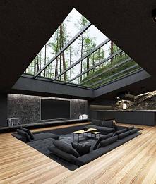 #wnętrza#bardzo#fajny#pomysł#salon#widok#na#naturę