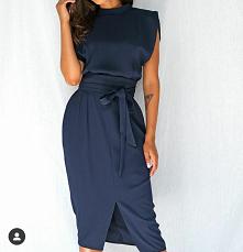 elegancka sukienka #elegancka #sukienka #granatowa