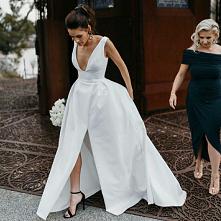 prosta wyjątkowa elegancka suknia #wedding #sukniaślubna #prosta