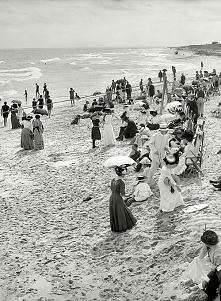 Circa 1910. Bathing at West...