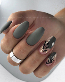 #Kolejna z jesiennych inspiracji, tym razem manicure z #wzorkami!