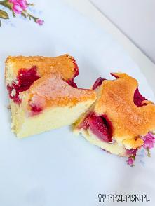 Ciasto Maślane z Truskawkami