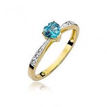 Złoty pierścionek ze szmara...