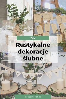 Zrób to sam - rustykalne wesele Nasze dekoracje ślubne: zaproszenia, papetereria, księga gości, plan stołów, dekoracje na stołach. Dużo zdjęć i inspiracji z naszego rustykalnego...