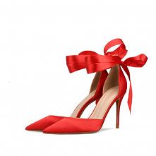 Piękne Czerwone Bal Sandały...