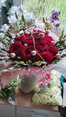 #mój #bukiecik #róż  co pow...