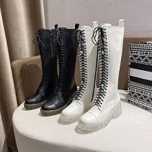 Moda Zima Czarne Zużycie ul...