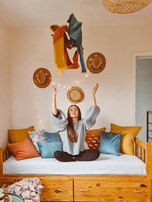 Pokój w stylu BOHO Roleta r...