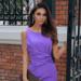 Fioletowa sukienka na wesel...