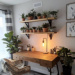 #wnętrze #wystrójwnętrz #biurko #rośliny