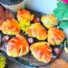 Bułeczki dyniowe – Jesienne liście z prażonymi jabłkami. #jesien #dynia