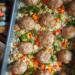 Pulpety pieczone na ryżu z warzywami #pomyslnaobiad #jedzonko