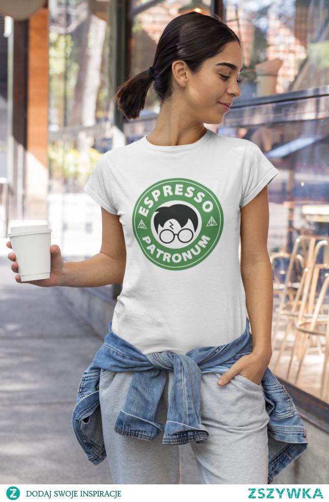 """Koszulka z  zabawnym napisem """"Espresso Patronum"""" dostępna po kliknięciu w zdjęcie :)"""
