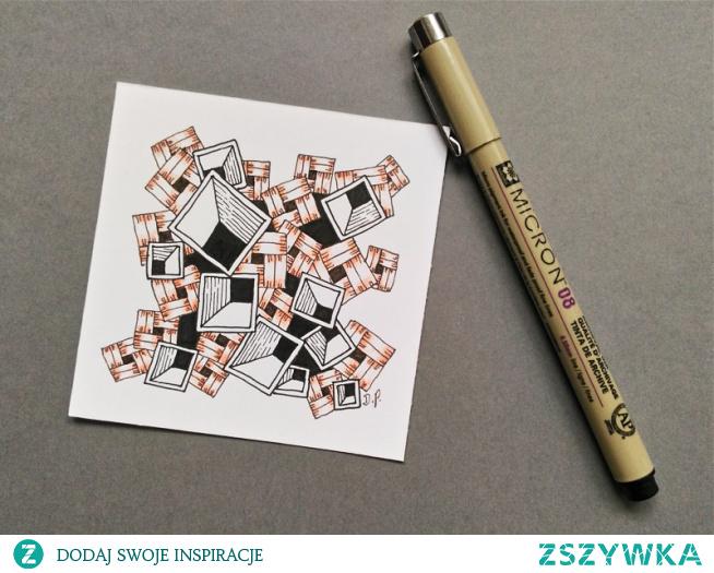 Rysowanie Zentangle, proste przykłady
