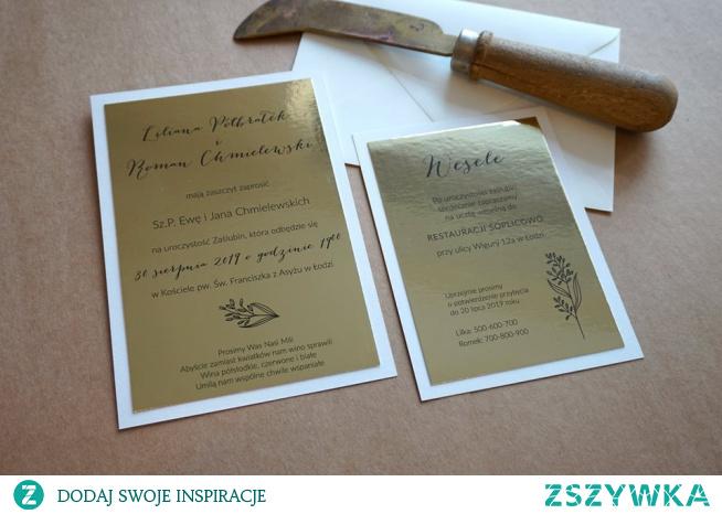 #zaproszeniaslubne #zaproszenianamirrorze #zaproszenialustrzanezłoto #lustrzanezloto #mirror #ślub #zaproszenia #wedding #invitations #weddinginvitations
