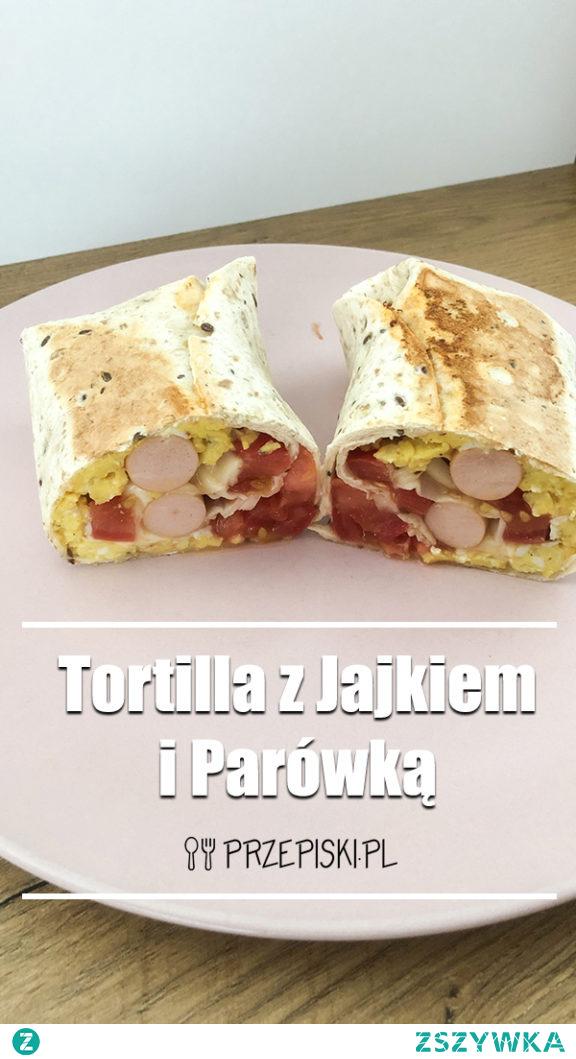 Tortilla z Jajkiem i Parówką