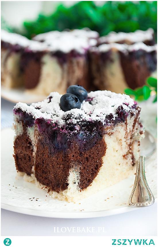Ciasto łaciate z borówkami