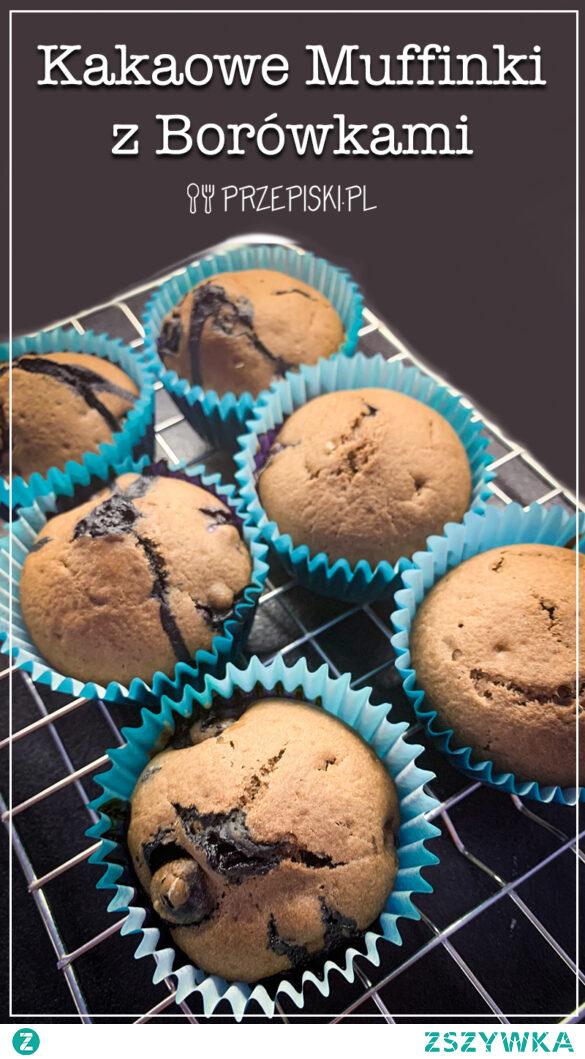 Kakaowe Muffinki z Borówkami