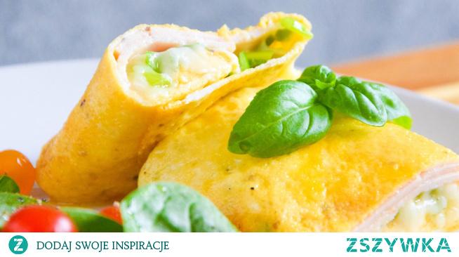 Omlet francuski z serem i szynką. Przepis po kliknięciu w zdjęcie.