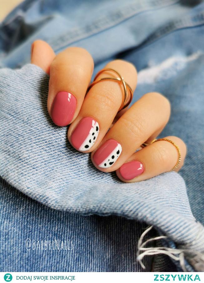 Krótkie paznokcie  #paznokcie #paznokciehybrydowe #paznokcioweinspiracje