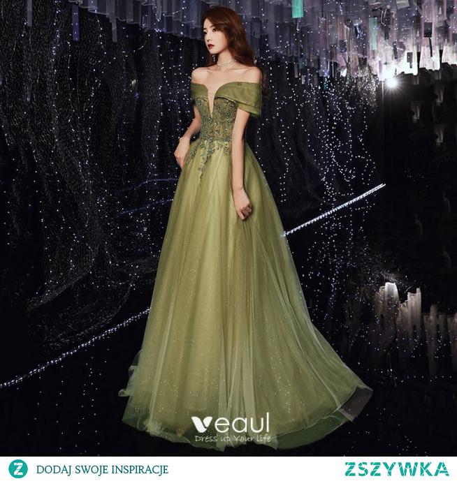 Piękne Limonkowy Sukienki Wieczorowe 2020 #SukienkiWieczorowe #SukienkiWizytowe