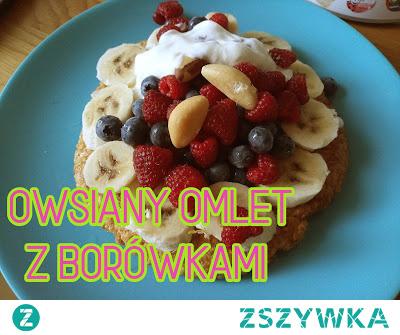Owsiany Omlet z Borówkami