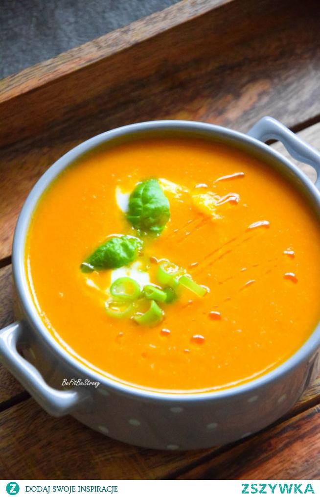 Zupa krem z pomidorów - szybka pomidorowa FIT. Przepis po kliknięciu w zdjęcie.