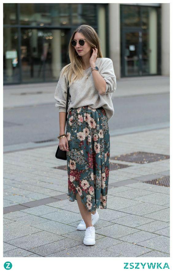 #spódnica #kwiaty