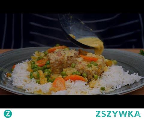 Polędwiczki z jabłkami w sosie curry / Oddaszfartucha