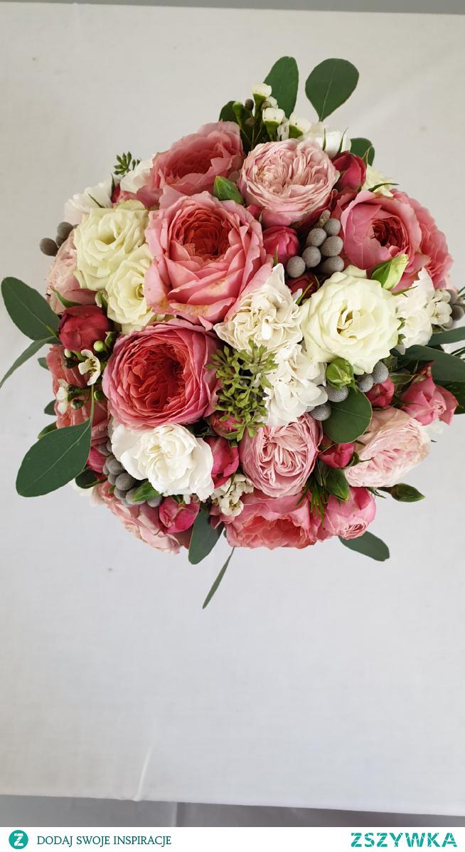 #bukiet#ślubny#róża#eukaliptus