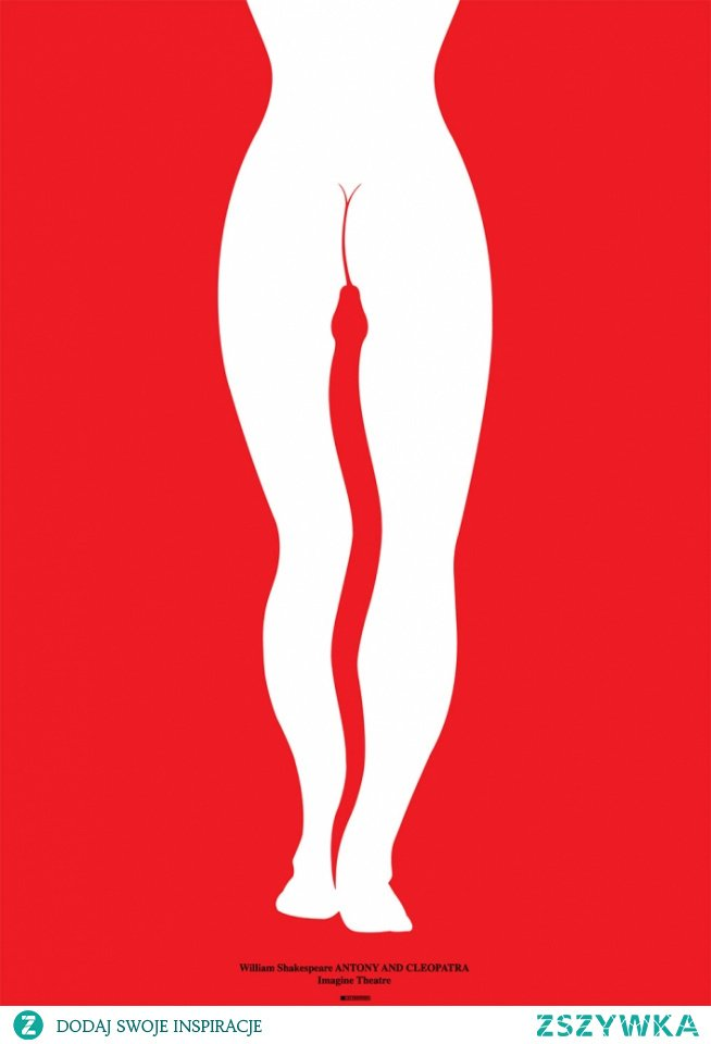 """plakat sztuki """"Antoniusz i Kleopatra""""- Lex Drewinski"""