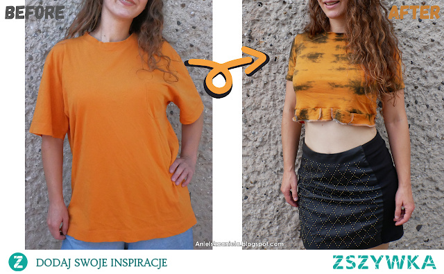 crop top z t-shirt u diy